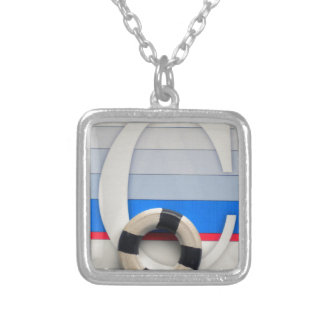 initial C Silver Plated Necklace
