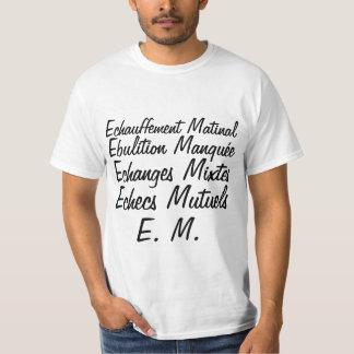 Initial E M - white tee-shirt T-Shirt