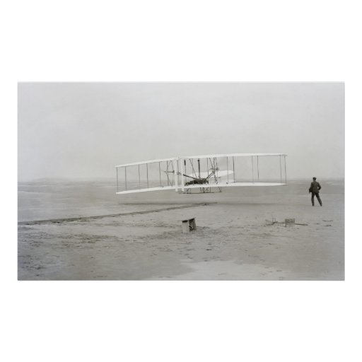 INITIAL FLIGHT CAPTURED ON GLASS NEGATIVE - 1903 POSTER