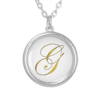 Initial G Gold Monogram Necklace