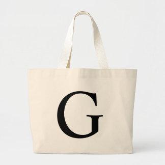 Initial G Jumbo Tote Bag