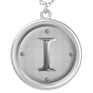 initial i necklace
