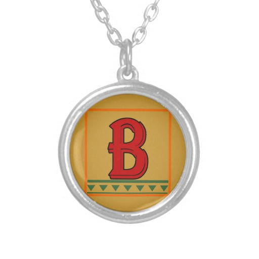 Initial, Italian Red Letter Custom Jewelry