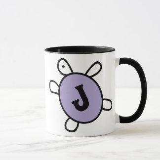 Initial J Turtle Mug