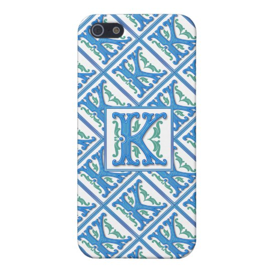 Initial K Monogram - Girly and Elegant iPhone 5/5S Covers