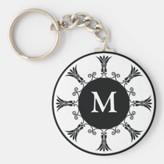 Initial Letter Monogram Key chain : : Black