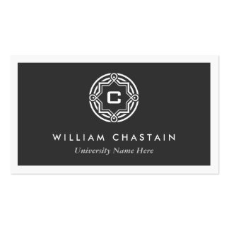INITIAL LOGO for STUDENTS UNIVERSITY Black Business Card Templates