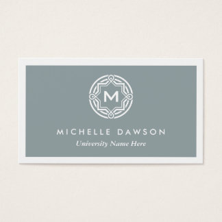 INITIAL LOGO for STUDENTS/UNIVERSITY (Gray) Business Card