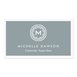 INITIAL LOGO for STUDENTS UNIVERSITY Gray Business Card Template