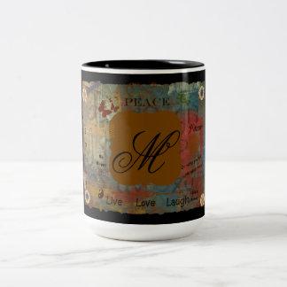Initial M Two-Tone Coffee Mug