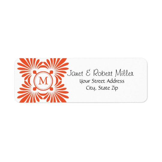 Initial Monogram Return Address Labels