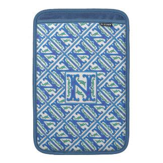 Initial N Monogram - Girly and Elegant MacBook Sleeves