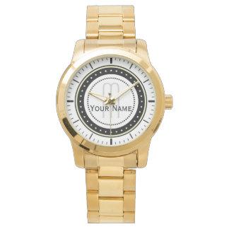Initial Name Classic. Unisex Oversized Bracelet Wrist Watches