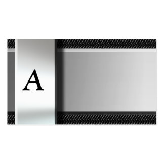 Initial On Metal Carbon Fiber Business Cards