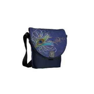 Initial Peacock Fantasy Commuter Bag