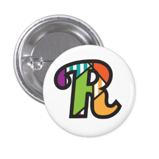 Initial plate R (to letter R) of jrf.a 1 Inch Round Button