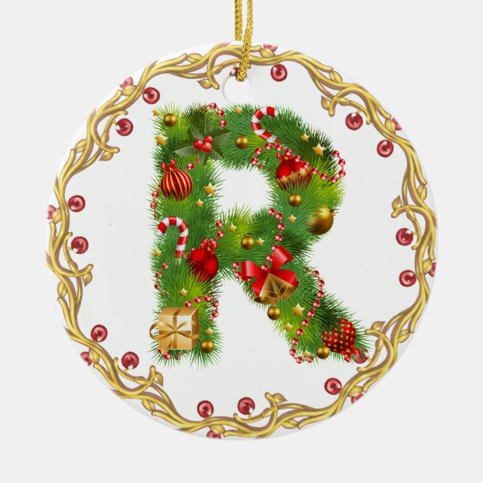 Snap Initial Personalized Christmas Ornaments Zazzle CA photos on ...