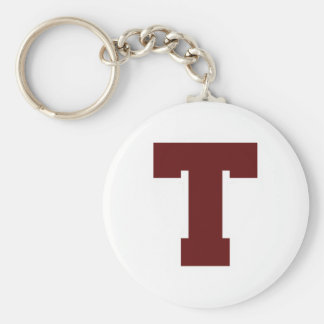 Initial T Keychain