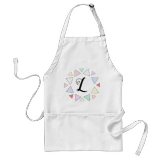 initial triangle- circle apron