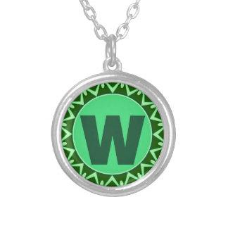 initial W.jpg Pendant
