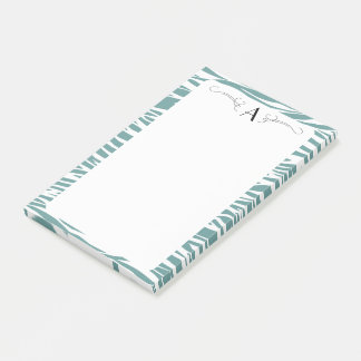 Initial Zebra print post it pad Post-it Notes