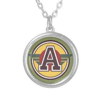"""Initiale de la lettre """"A"""" de monogramme de Deco Pendentif Rond"""