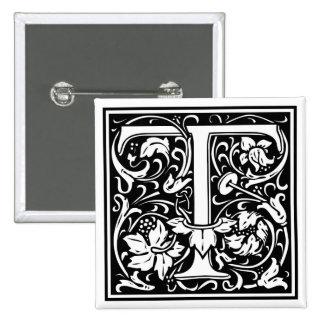 """Initiale décorative """"T"""" de lettre Pin's Avec Agrafe"""
