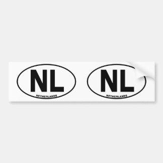 Initiale ovale de code d'identification autocollant de voiture