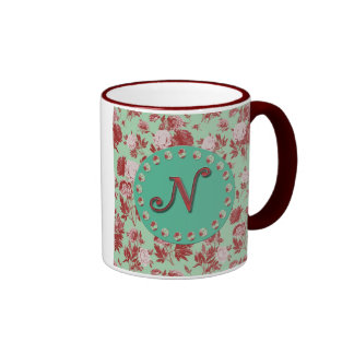 Initiale vintage N Mug Ringer