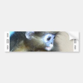 Initiales brunes mignonnes NMB de singe aucunes af Autocollant De Voiture