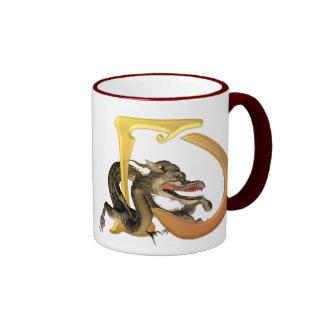 Initiales D de Dragonlore Mug Ringer