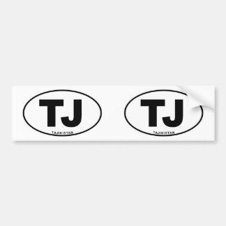 Initiales ovales de code d'identification autocollant de voiture