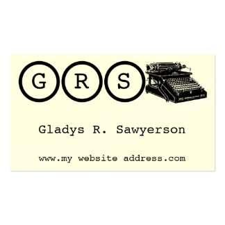 Initials and Typewriter Business Card