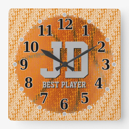Initials - Best Player | Basketball Cool Gifts Wall Clocks