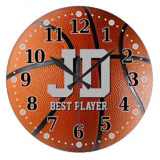 Initials - Best Player | Basketball Wall Clock