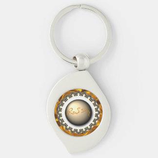 Initials fancy keychain