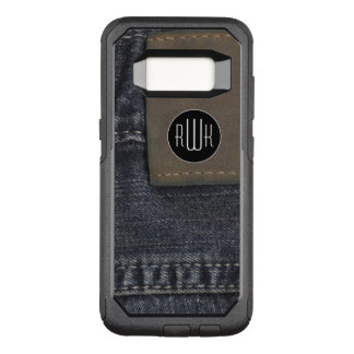 Initials | Jeans texture OtterBox Commuter Samsung Galaxy S8 Case