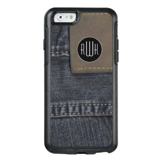Initials | Jeans texture OtterBox iPhone 6/6s Case