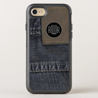 Initials   Jeans texture OtterBox Symmetry iPhone 7 Case
