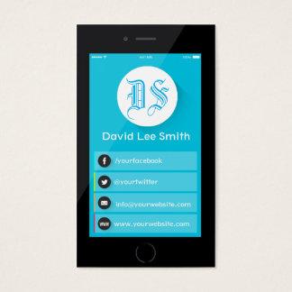 Initials logo monogram smartphone business card