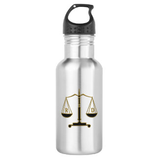 Initials Scales of Justice | Lawyer Best Gifts 532 Ml Water Bottle