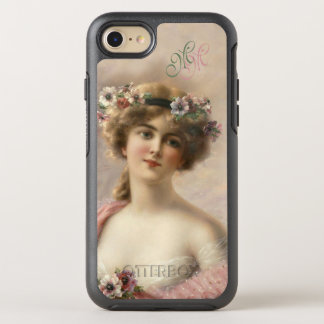 Initials Victorian Nostalgia Vintage Flower Woman OtterBox Symmetry iPhone 8/7 Case