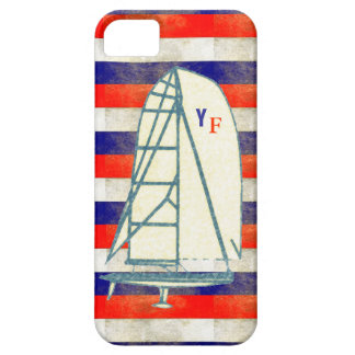 initials yachting marine stripes case for the iPhone 5
