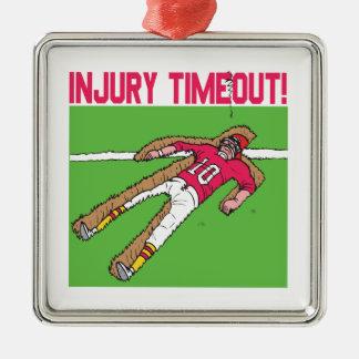 Injury Timeout Metal Ornament