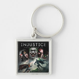 Injustice: Gods Among Us Silver-Colored Square Keychain