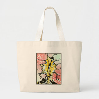 Ink and Pink Large Tote Bag