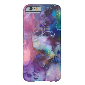 ink colorful purple gold texture pattern paint barely there iPhone 6 case