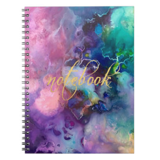 ink colorful purple gold texture pattern paint notebook