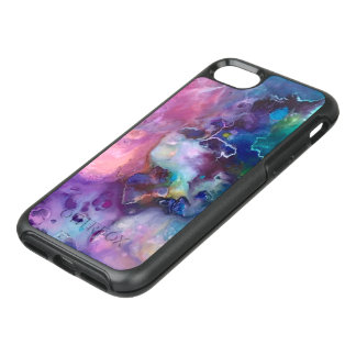 ink colorful purple gold texture pattern paint OtterBox symmetry iPhone 8/7 case