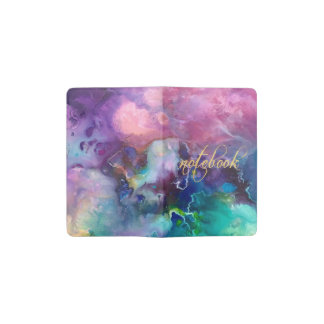 ink colorful purple gold texture pattern paint pocket moleskine notebook